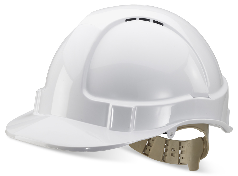Beeswift B Brand Industrial Safety Helmet Vented White BBVSHW