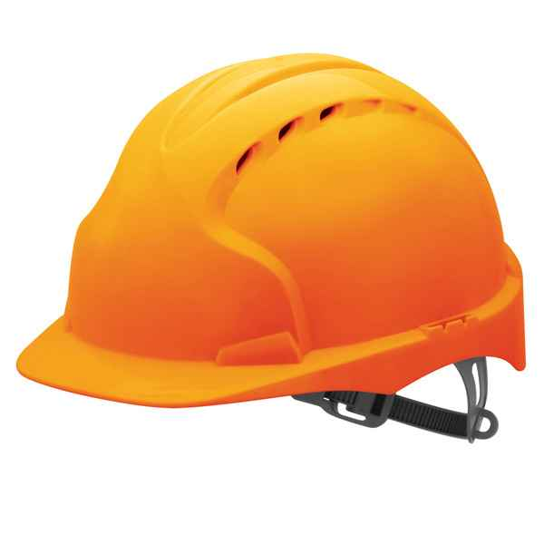 JSP EVO2 AJE030-000-800 Vented HDPE Shell Head Protection Safety Helmet Orange