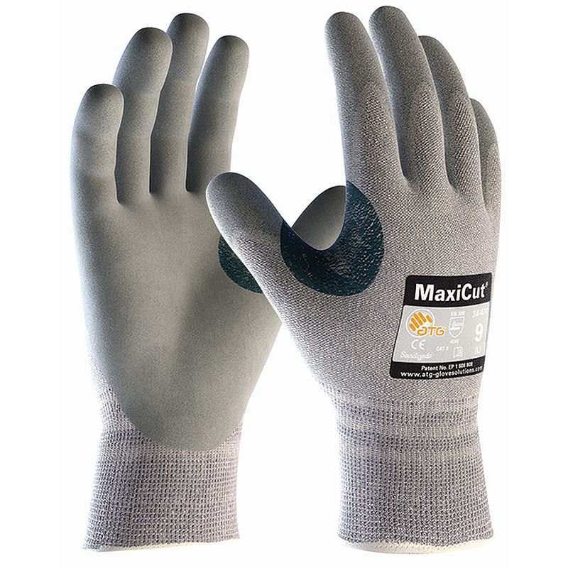 ATG 34-470 MaxiCut-Dry Cut-5 Nitrile Cut Resistant Work Gloves