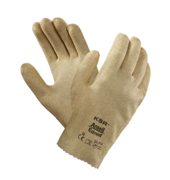 Ansell KSR 22-515 Men Work Gloves Vinyl Coated