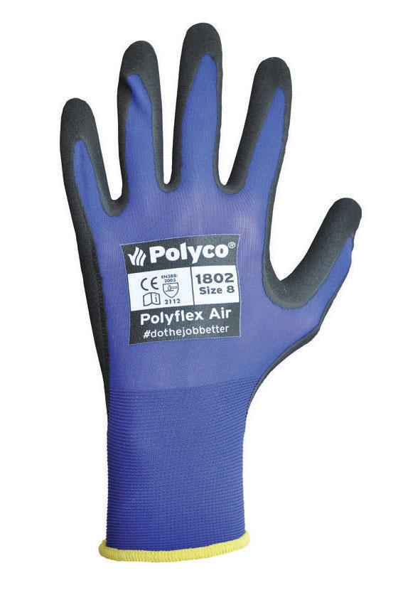 Polyco 180 Polyflex Air Neoprene Palm Coating Work Glove, Size 9