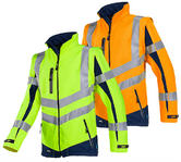 Sioen Malden 724Z Hi-Vis Softshell Jacket With Detachable Sleeves
