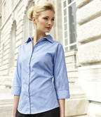 Premier PR305 Ladies Shirt 3\4 Sleeve Poplin Light Blue