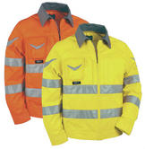 Cofra WARNING V018 Polycotton Hi-Vis Yellow Non Metal Detectable Jacket