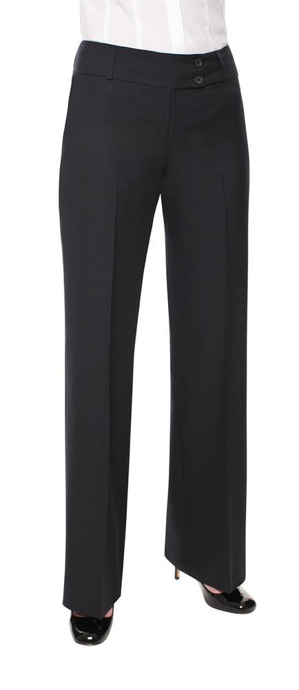 Clubclass Brompton Ladies Trousers Formal Cut Low Waist Black