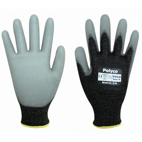 Polyco Matrix C4 Men Work Glove Cut Resistant Polyurethane Coated