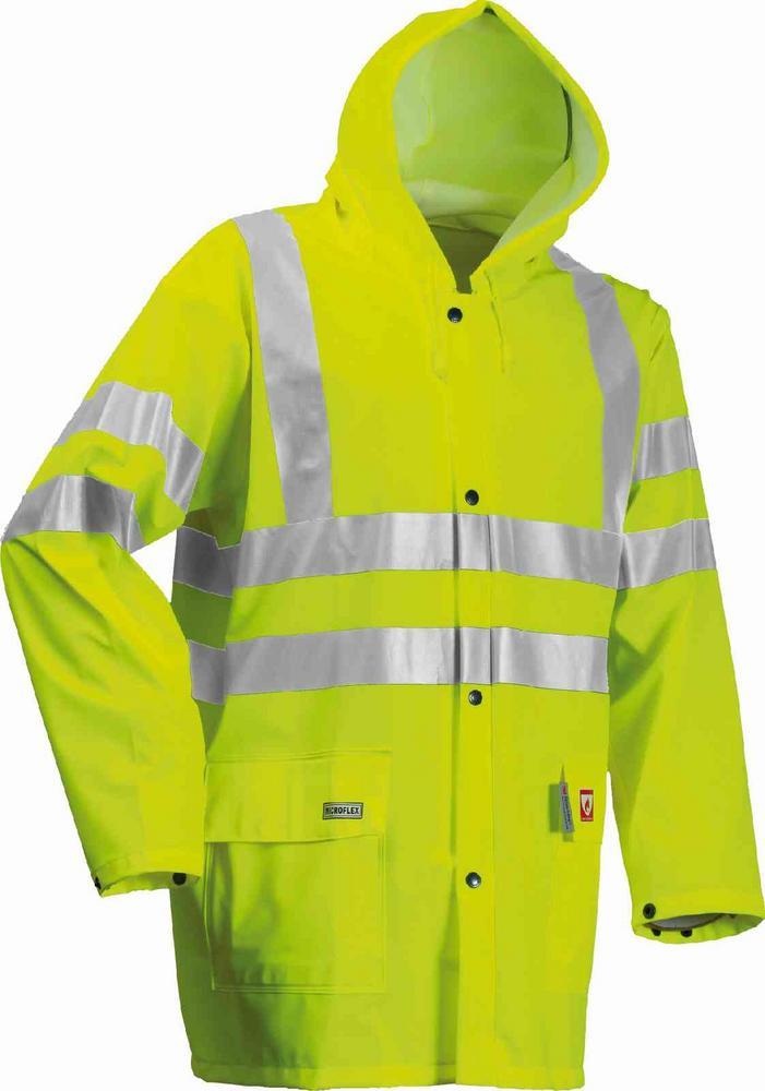 Lyngsoe ARC-LR4055 Flame Retardant Hi-Vis Waterproof Hooded FR Rain Jacket