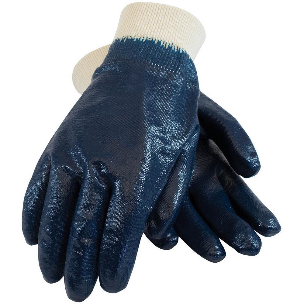 Arvello N692 Fully Dipped Navy Work Nitrile Gloves