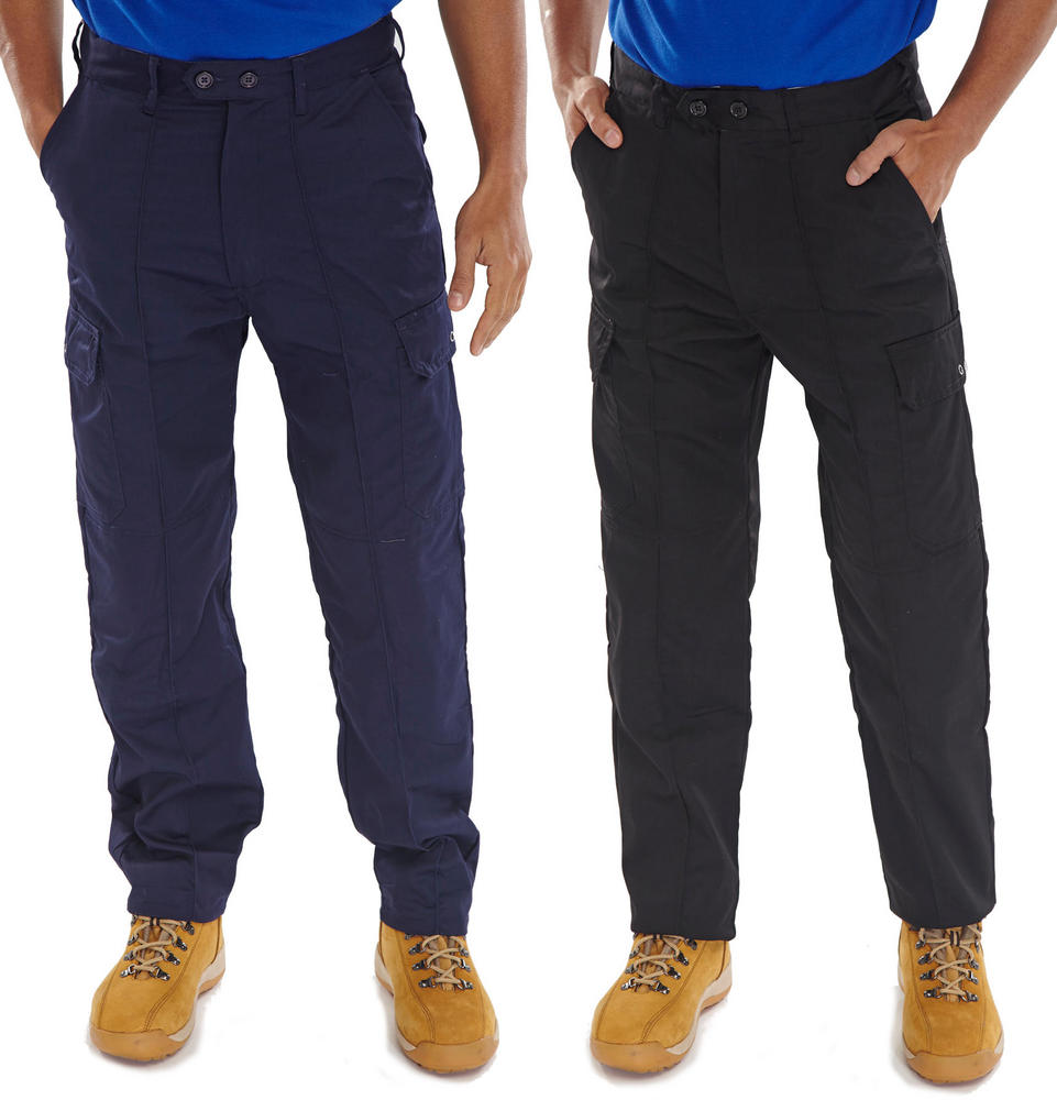 Super Click Drivers PCTHW Cargo Trousers With Knee Pad Pockets 235Gsm