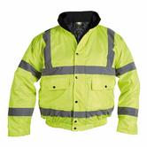 Proforce HJ13 Class 3 Hi Vis 300D PU Breathable Bomber Jacket