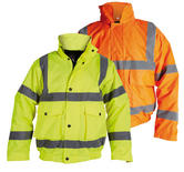 Proforce High Visibility Heavy Duty Waterproof Bomber Jacket