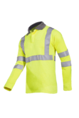 Sioen 3142A Ruapo Flame Retardant Antistatic FR Hi Vis Work Polo Shirt, Size - Large