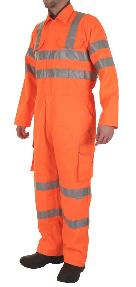 Beeswift RSC Rail Spec Orange Coverall Hi Vis Orange Boilersuit