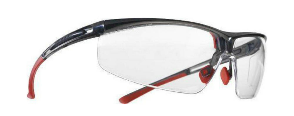 Honeywell Adaptec 1030749 Red Black Frame Clear Lens Spectacle