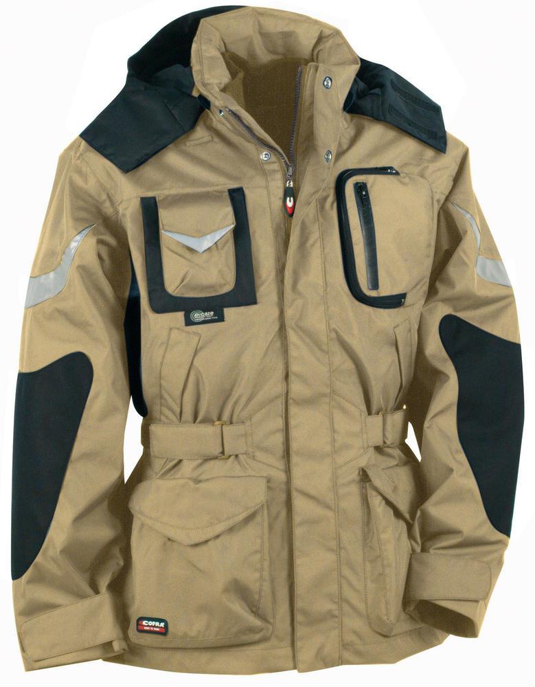 Cofra Icestorm 4 in 1 Winter Parka Beige Hooded Jacket, Size - C54