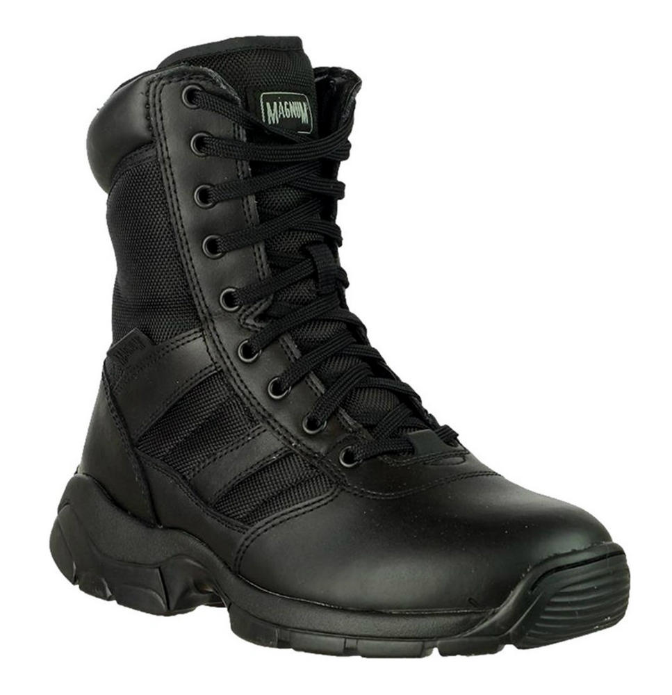 "Magnum Panther 8"" Side Zip Leather Upper Nylon Lace Up Boot 55627"