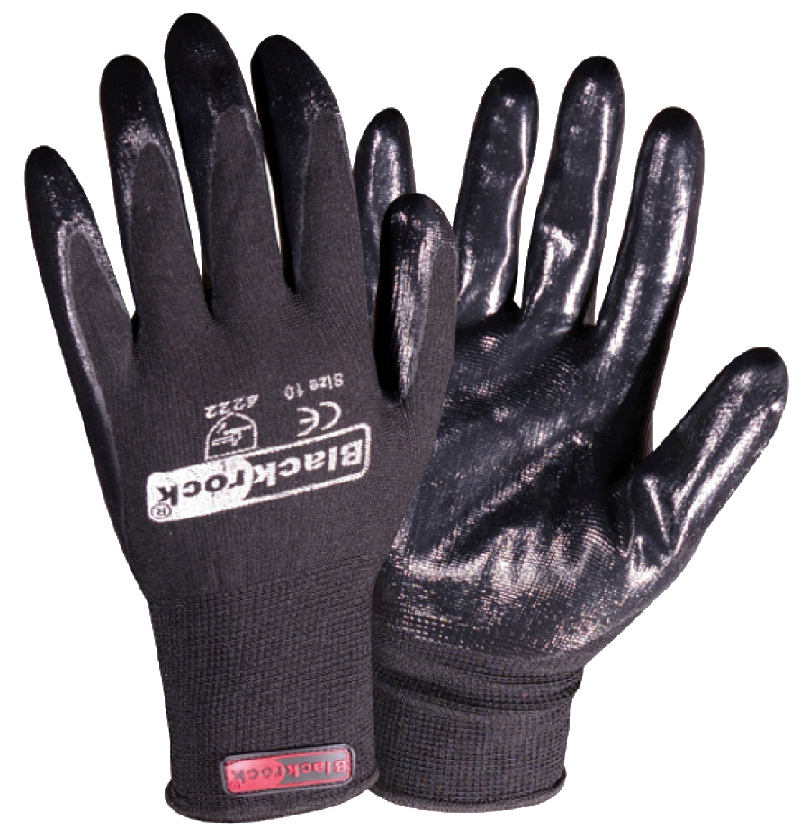 Blackrock 84302 Work Super Grip Nitrile Palm Coating Gloves, Box of 48 Pairs