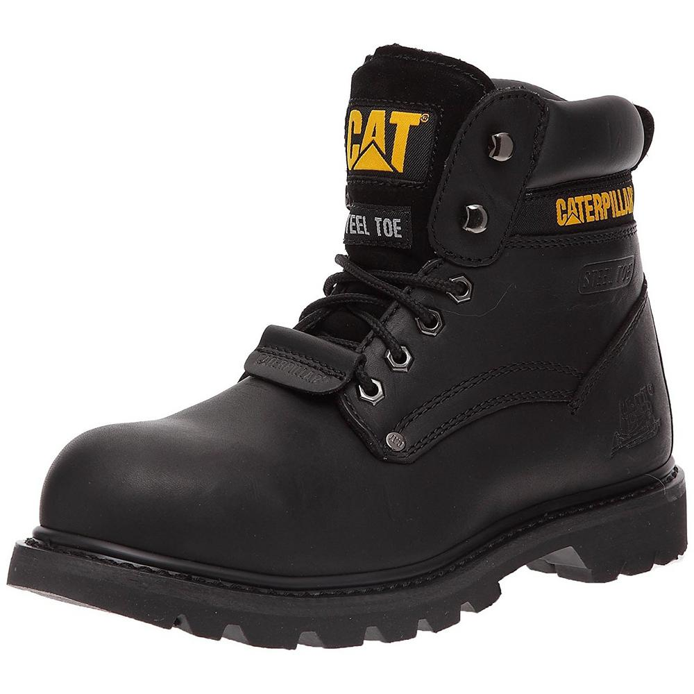 CAT Caterpillar Sheffield II Steel Toe SB Black Safety Boots