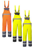 Portwest S488 Men Hi Vis Bib & Brace Waterproof Unlined