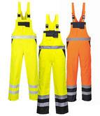 Portwest S488 Men Hi Vis Bib & Brace Waterproof Unlined