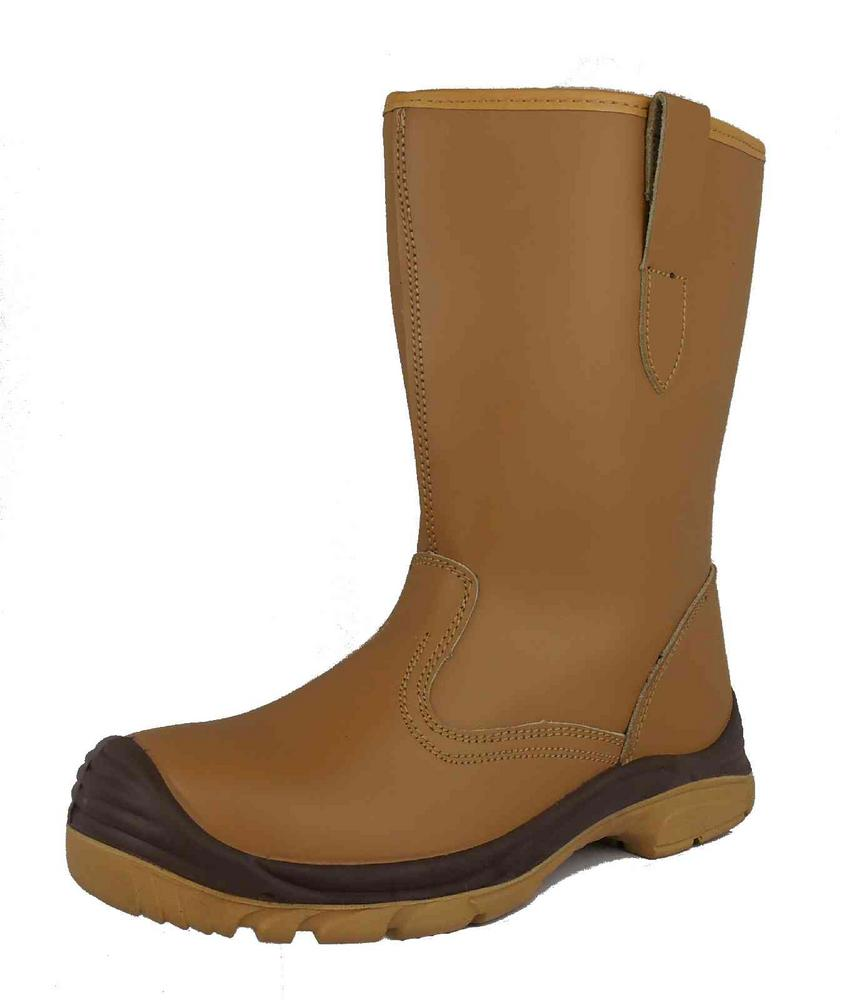 Arvello ST617 Composite Fur Lined Safety S1P Tan Rigger Boot