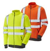 Leo Workwear Libbaton SS03 Hi Vis Track Top Sweatshirt