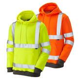 Leo Workwear GOODLEIGH Hi-Vis Hooded Sweatshirt
