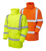 Leo Workwear Tawstock A01 Single Colour Hi-Vis Anorak