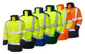 Leo Workwear Tawstock A01 Dual Colour Hi Vis Anorak