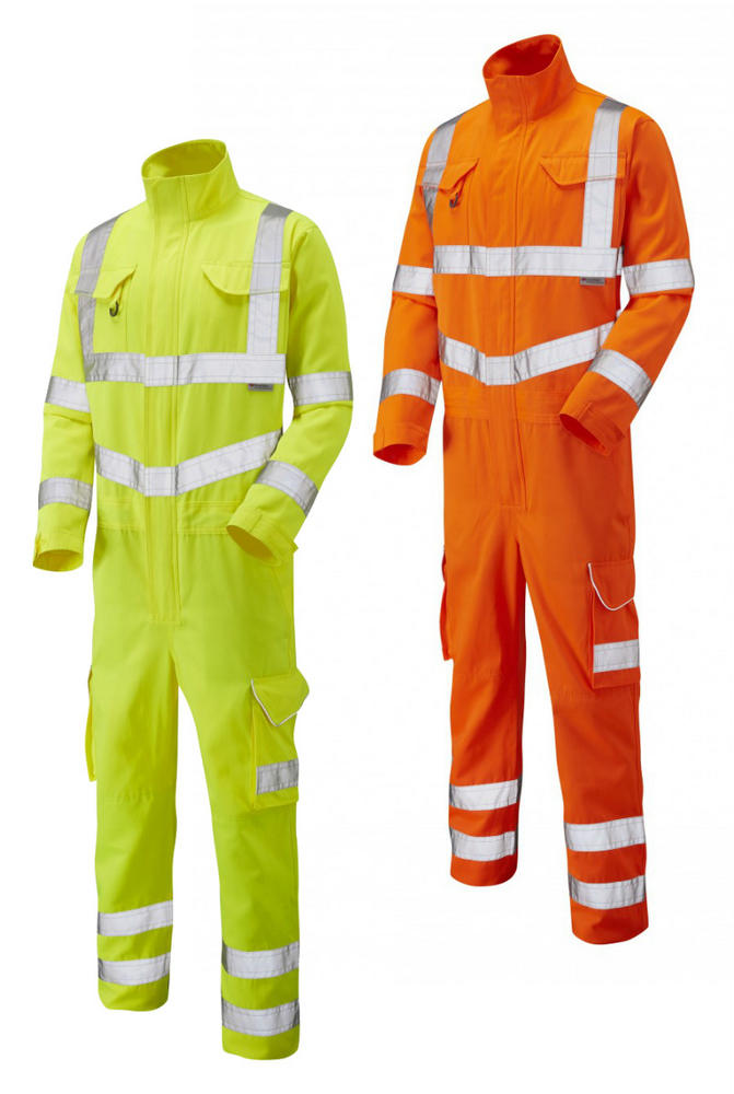 Leo Workwear Molland CV01 PolyCotton Coverall Hi-Viz Class-3