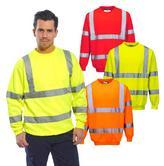 Portwest B303 Men Polycotton Reflective Tape Hi Vis Sweatshirt