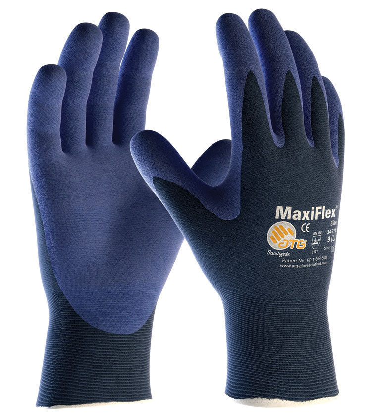 ATG MaxiFlex Elite Palm Coated 34-274 Nitrile Foam Work Gloves