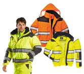 Portwest C466 Classic Men Hi Vis Bomber Jacket Waterproof