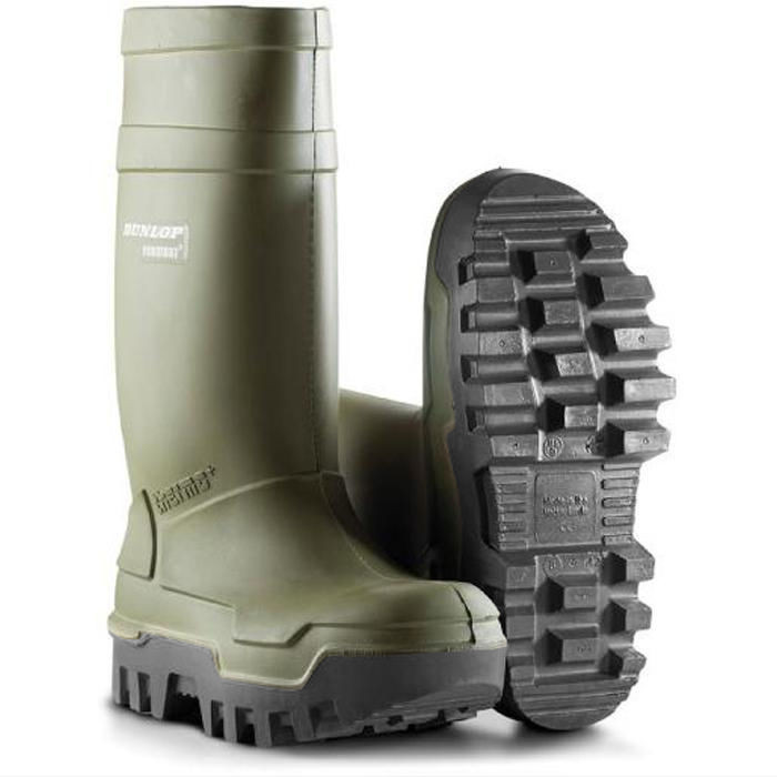Dunlop Purofort Thermo Plus C662933 Safety S5 CI SRC Wellington - Green