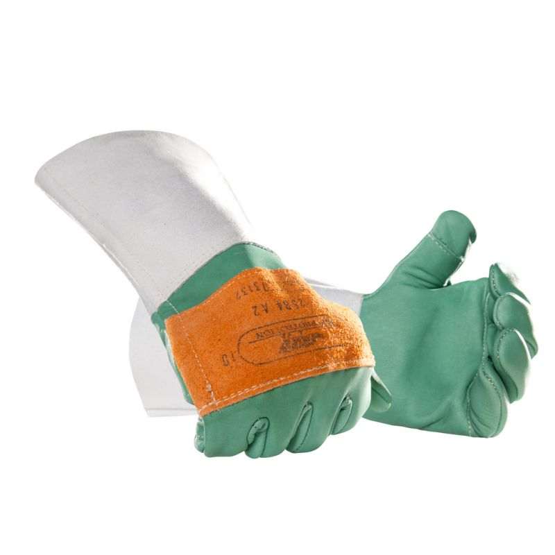 SIP 2SB4 Forestry Gloves Class 1 Leather Chainsaw Protection Gauntlets