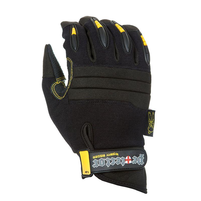 Dirty Rigger Dty-Protecv2 Impact Abrasion Cut Resistant Kevlar Full Finger Rigger Gloves
