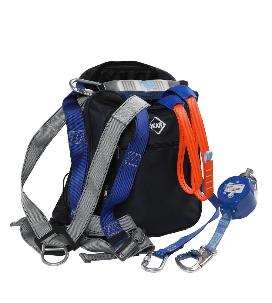 IKAR IKGBGKIT7 Harness, Lanyard, Sling, Block & Bag Kit - For use on sites