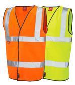 Leo Workwear Dolton W06-Y Hi Vis Flame Retardant Vest Waistcoat
