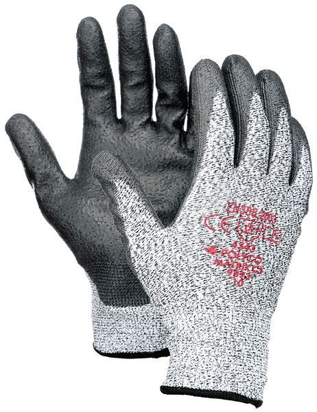 Polyco Matrix C3 Seamless Cut 3 Resistant Glove Polyurethane Palm Coating Grey