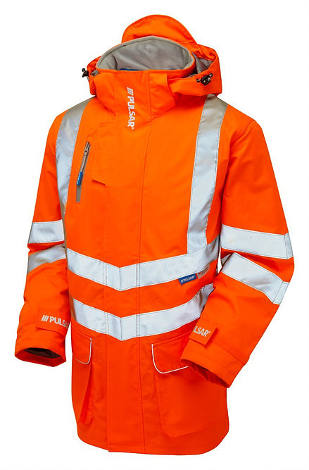 Yellow or Orange JSP LTD Hi Vis Waterproof Reflective 7 in 1 Jacket//Coat Breathable