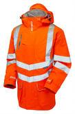 PULSAR Pulsarail PR499 Rail Spec Hi-Vis Orange Breathable Storm Coat