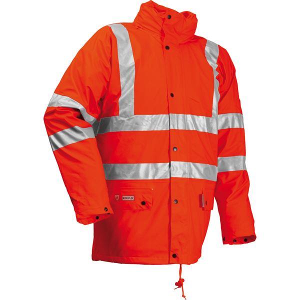 Lyngsoe Microflex FR Hi Vis Winter Rain Jacket FR-LR3456 Orange Antistatic