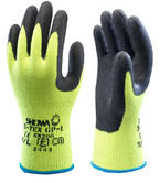 Showa S-TEX GP1 Cut Resistant Level 4 Yellow Cut Work Gloves