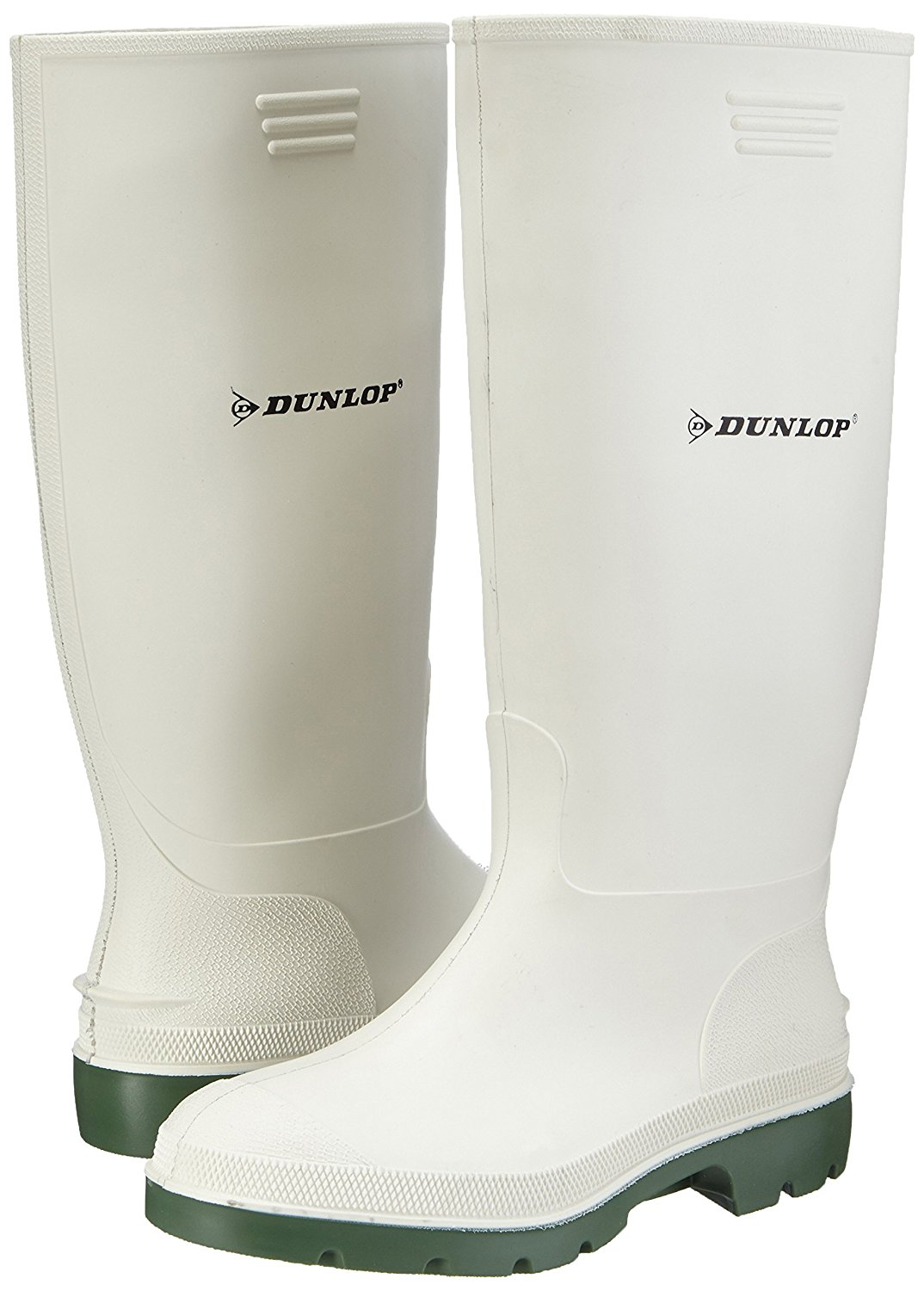Dunlop Pricemaster White Wellingtons 380BV Non Safety Dunlop Wellingtons
