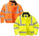Portwest RT62 Waterproof Breathable Reflective Hi Vis Bomber Jacket