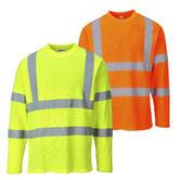 Portwest S278 Long Sleeve Reflective Tapes Hi Vis T-Shirt