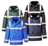Portwest S433 Waterproof Reflective Tape Wadded Winter Jacket
