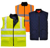 Portwest S4629 Waterproof Quilted RIS Hi Vis Reversible Bodywarmer