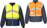 Portwest S769 Hi Vis Two-Tone Reversible Rain Jacket Work Bodywarmer