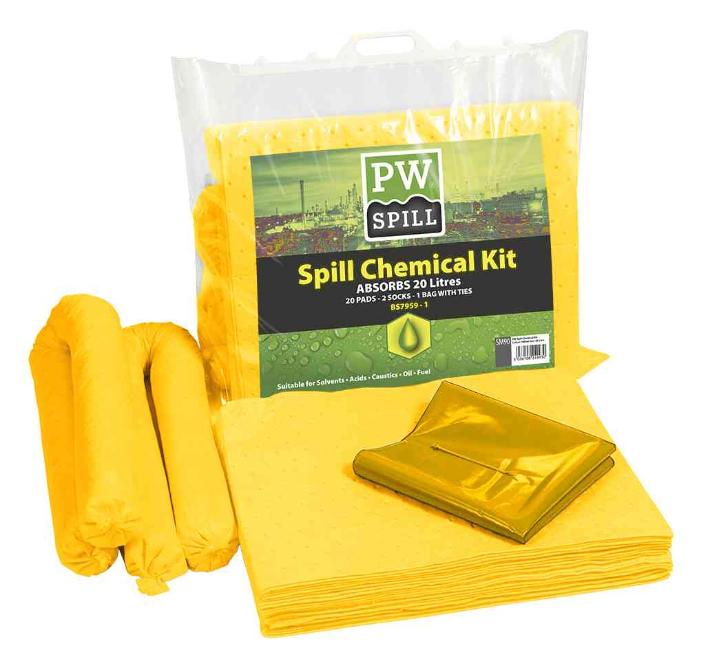 how to use chemical spillage kit